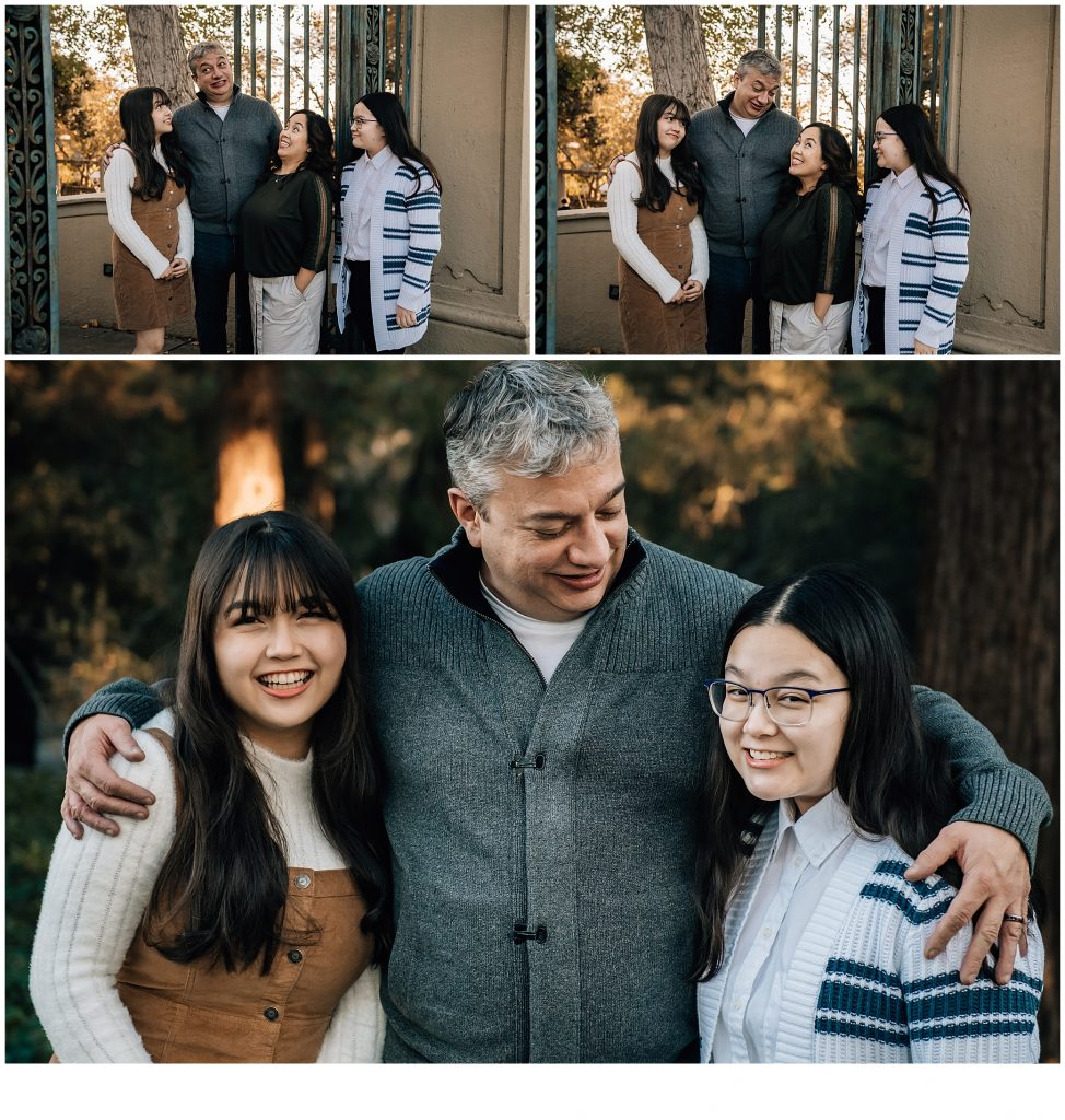 Family photography with teenagers in the park