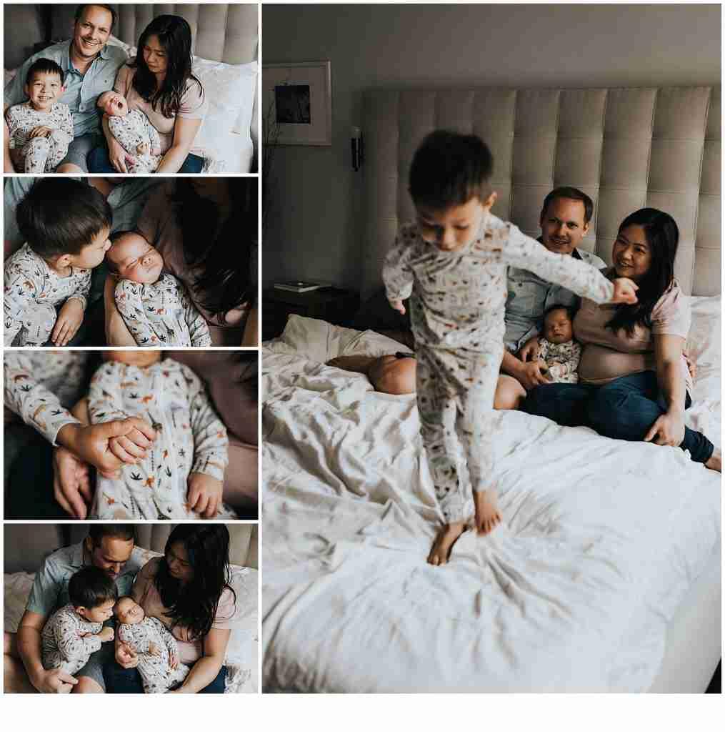 Newborn with family